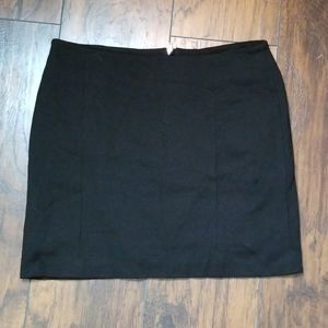 WHBM Lined Black Mini Skirt
